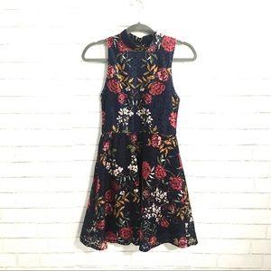 Francesca's Alya floral lace dress